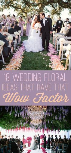 If you love flowers, you'll adore these wedding décor ideas.