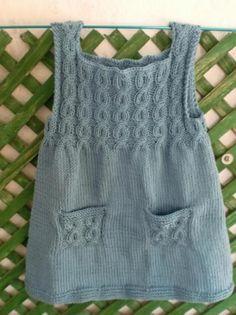 Como tejer un vestido de bebé a dos agujas - Imagui