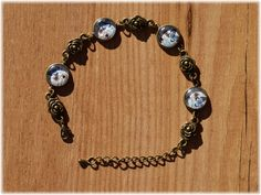 Pulsera Butterfly Flowers