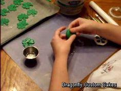 Fondant Shamrocks for St. Patricks Day