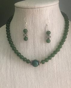 """20 Likes, 1 Comments - Rani Jewelry (@ranijewelry) on Instagram: """"SOLD! Green Jade necklace and earrings set. Will be making another set soon #Etsy…"""""""