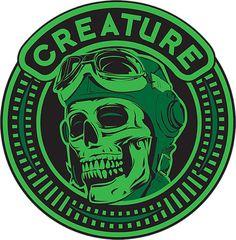 """Creature Skateboards Die High Skate Sticker - 3.5"""" x 3.5"""""""