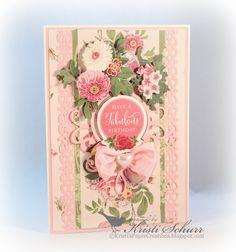 Anna Griffin Cottage Rose Birthday Card