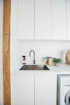 Bathroom Sink Cabinet Small Laundry Rooms 67 Ideas For 2019 Small Laundry Rooms, Laundry Room Organization, Laundry In Bathroom, Bathroom Sets, Laundry Cupboard, Small Shelves, Small Storage, Storage Ideas, Organisation Ideas