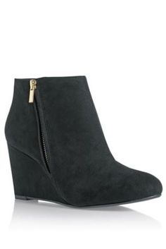 194a011be0bcca Buy Black Zip Wedge Boots from the Next UK online shop