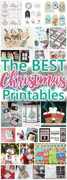 The BEST Christmas and Holiday FREE Printables - Gift Tags - Gift Card Holders - Christmas Greeting Cards and more FREE Downloadable Printables for the Holiday Seasons