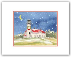 Chatham Lighthouse christmas cards, Cape Cod  MA , cape cod Christmas cards. Winter solstice cards. Christmas lighthouse cards. Brant Point Lighthouse, Christmas Sloth, Merry Christmas Card, Nautical Christmas, Woodland Christmas, Cape Cod Ma, Bird Cards, Winter Solstice, Xmas