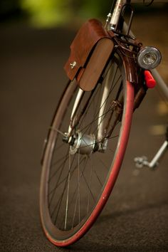 Leather Bicycle Bag -