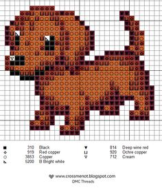 little dog (several color variations for this chart)