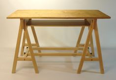 Trestle table with maple base