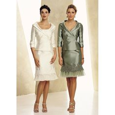 Stylish Two Piece Short Mother of the Bride/ Groom Dresses with Jackets