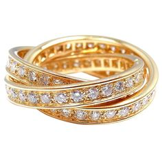 CARTIER Trinity Diamond Yellow Gold Ring. -- -- - - Should I remind him that my birthday is coming up?