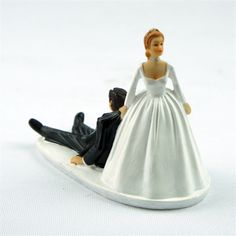 """Runaway Groom"" Funny Cake Topper for Wedding Cake Decoration - Wedding Look"