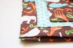 Minky Baby Blanket  Michael Miller Zoology in by modernmadebaby, $38.00