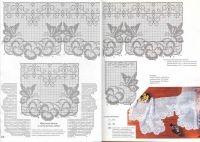Gallery.ru / Фото #45 - 343 - ergoxeiro Filet Crochet, Vintage World Maps, Projects To Try, Portal, Butterflies, Crafts, Flower, Crochet Bedspread, Border Tiles
