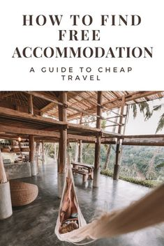 Free Accommodation Gudie: How to find cheap accommodation when traveling - Including getting free hotels and exchanging work for a place to sleep when traveling. I love these tips because they have allowed me to travel the world without being rich as well Free Travel, Cheap Travel, Budget Travel, Travel Tips, Travel Hacks, Travel Ideas, Travel Goals, Travel Europe, Travel Photos