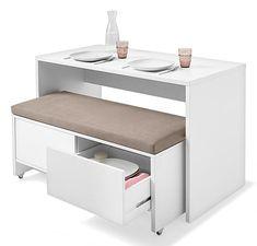 Stauraum, Sitzplatz und Ablagefläche in Einem! Eine Tolle Idee für kleine Küchen.                                                                                                                                                                                 Mehr