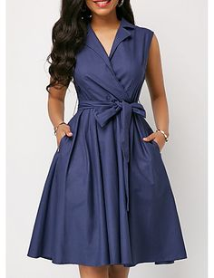 Summer sleeveless notched a-line women dress with sashes sukienka Plus size dresses for women Ladies frocks Big Size Dress, Plus Size Maxi Dresses, Sleeveless Dresses, Smocked Dresses, Casual Summer Dresses, Casual Dresses For Women, Vintage Summer Dresses, Dress Summer, Elegant Dresses