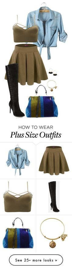 """Walking boots- plus size"" by gchamama on Polyvore featuring Doublju, Charlotte Russe, Ashley Stewart, Roberta Di Camerino and plus size clothing"