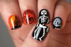 fun halloween nails padrísimas para mi enana...