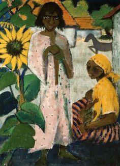 Zigeuner mit Sonnenblumen - Otto Mueller.