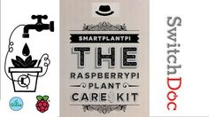 SmartPlantPi. Set up a SmartPlant monitoring system with your Raspberry Pi. This kit is designed to teach the technology and requires NO soldering!