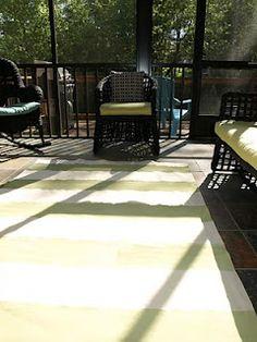DIY outdoor rug for pennies