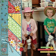 Triangle Inspired Templates by Scrapping with Liz Cowboys Chase the Cowgirls by Etc. by Danyale