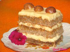 prajitura Petre Roman Romanian Desserts, Romanian Food, Romanian Recipes, Caramel, Cheesecake, Food Porn, Dessert Recipes, Food And Drink, Sweets