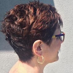 Beautiful color and short cut. Hair by Deona Hurd. #adorn #adornme #adorndeona #hairstylist #hairstyle #fall2015 #shortcut #mahogany #denver #denverco #colorado #303 #720 Positive Outlook On Life, Cut And Color, Denver, Love Her, Colorado, Hairstyles, Beautiful, Shorts, Haircuts