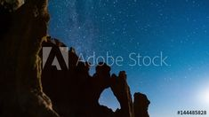 Stock Footage of Push-in linear timelaspe of an abstract landscape scene with eroded sand formations at night while the Milky Way is setting with an iridium flare available on request. Explore similar videos at Adobe Stock Rock Formations, Milky Way, Abstract Landscape, Geology, Stock Video, Stock Footage, Adobe, Flare, Southern