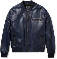 McQ Alexander McQueen Leather Bomber Jacket | MR PORTER
