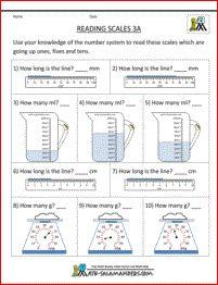 math worksheet : 5th grade measurement worksheets  reading scales sheet 5a  : 5th Grade Math Measurement Worksheets