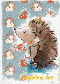Delphine Doreau, Le lapin dans la lune - Non dairy Diary #hedgehog