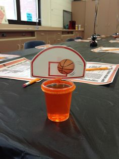 Jello basketball hoops! Great for a basketball themed party!