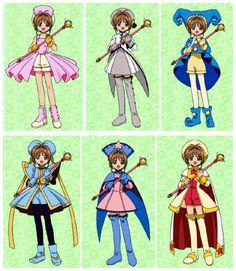 Cardcaptor Sakura - some of my favorite outfits Cardcaptor Sakura, Syaoran, Sakura Card Captors, Manga Anime, Anime Art, Xxxholic, Clear Card, Girls Anime, Maid Sama