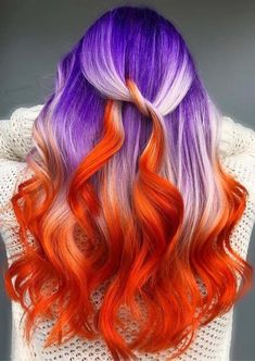 Haarfarbe Ideen Superb Hairstyles & Hair Color Shades for Ladies in 2018 Red Purple Hair Dye, Orange To Blonde Hair, Violet Hair Colors, Burgundy Hair, Brown Hair, Ash Brown, Beautiful Hair Color, Cool Hair Color, Unique Hair Color