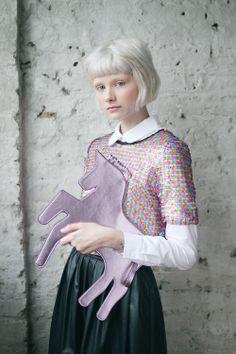 Unicorn Clutch Bag Pink for $72 via thewhitepepper.com #christmas #editorspick