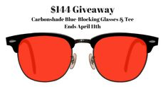 Enter to win a pair of Carbonshade blue-blocking glasses for better sleep!