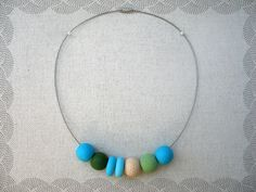 Items similar to Unique polymer clay beads necklace on Etsy Polymer Clay Beads, Beaded Necklace, Unique Jewelry, Amazing, Handmade Gifts, Vintage, Etsy, Beaded Collar, Kid Craft Gifts