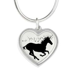 Magical Unicorn Silhouette Necklace on CafePress