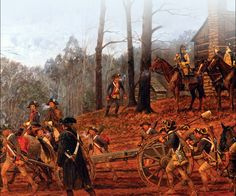 Scene from the Battle of Cowpens, South Carolina, January 17, 1781 ...