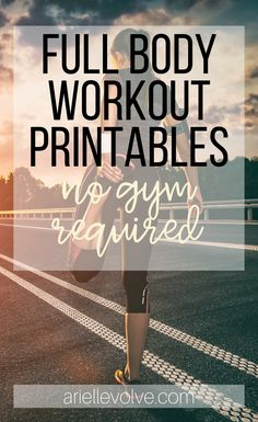 These workouts can be done anywhere, anytime. Click for quick, easy, printable workouts!
