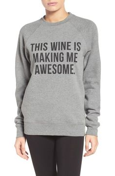 BRUNETTE the Label 'This Wine' Crewneck Sweatshirt available at #Nordstrom