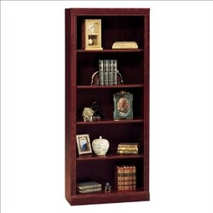 "Bush Furniture Saratoga 5 Shelf 71""H Wood Bookcase in Harvest Cherry (Office Product) http://postteenageliving.com/amazon.php?p=B000H91738"