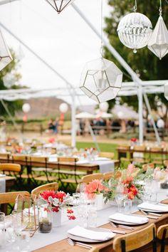 Rustic wedding recep