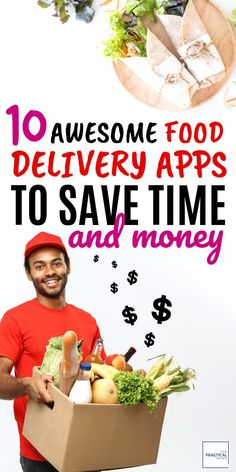 Trying to save money, but want to eat out? Use these best food delivery apps to help you save extra money and time. No more long waits at the restaurants with these food delivery services. You'll find the restaurants and groceries in these food apps serve delicious and inexpensive food that is budget friendly. Click here to try them!  | The Practical Saver | #fooddelivery #cheapgroceries #foodapps Save Money On Groceries, Ways To Save Money, Money Saving Tips, How To Make Money, Best Meal Delivery, Meal Delivery Service, Delivery Food, Frugal Meals, Budget Meals