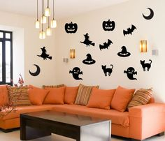 Halloween Wall Decal Set by WallDecalsEasy on Etsy