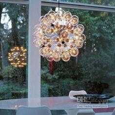 Wholesale Chandeliers & Pendant Lamps - Buy Nimi65 20/40/60-Heads Single Glass/Double GlassItaly FLOS Taraxacum 88 Glass Bubble Chandelier Modern Pendant Droplight Lamp Light Lighting, $345.0   DHgate