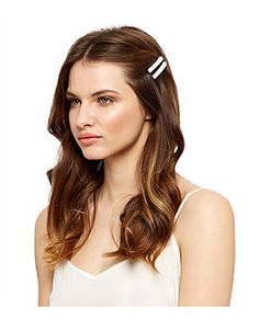 6 Pack Brown Shell Hair Slides   New Look